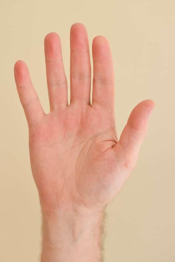 Shorter index finger than ring finger