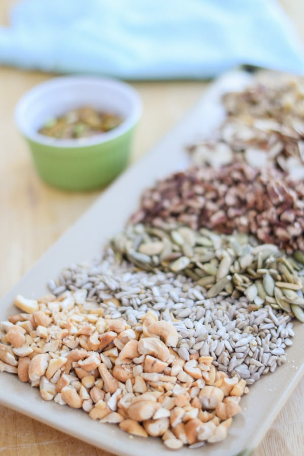 Lots of nuts on this plate for the paleo granola