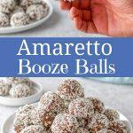 Amaretto booze balls for pinterest