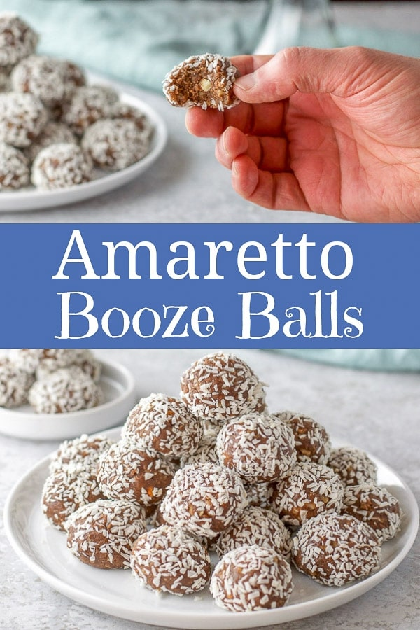 Be everyone's hero by serving these delicious Amaretto booze balls at your next party!  They are a fun boozy treat, but keep them away from the kiddos! #Amaretto #boozeballs #dishesdelish