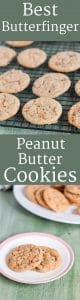 Best Butterfinger Peanut Butter Cookies are crunchy, delicious and perfect for your cookie tray!