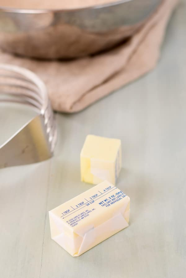 Butter for the scone mixture