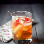 A delicious manhattan ready for sipping