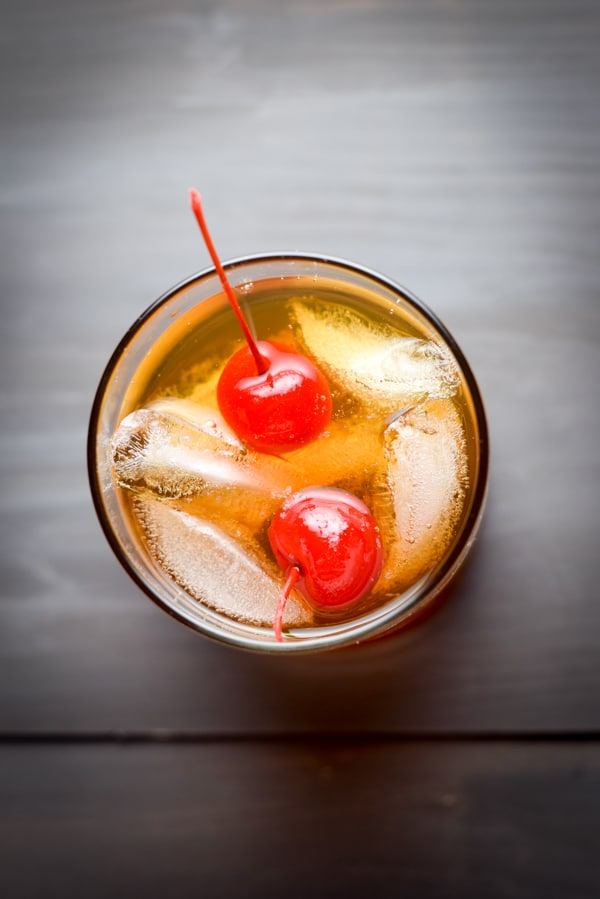 Arial view of the Manhattan - Top Five Cocktail Recipes of 2016. Source: Dishes Delish