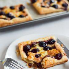 Cheery Savory Cherry Cheese Tart