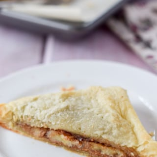 Almond Butter and Banana Puff Pastry