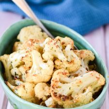 Very Delicious Roasted Herb Cauliflower ready to be eaten