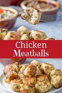 Chicken Meatballs for Pinterest