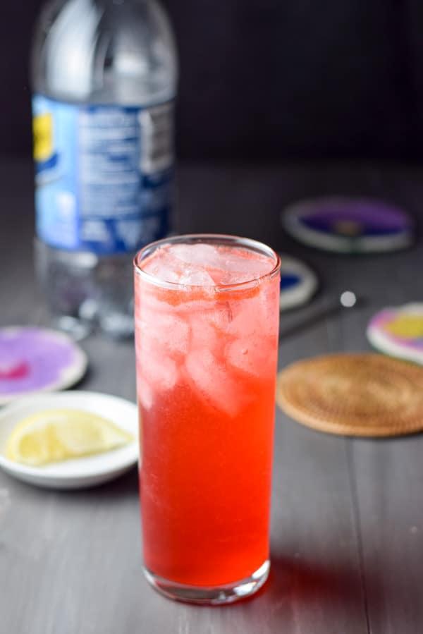 Club soda in the sloe gin fizz cocktail