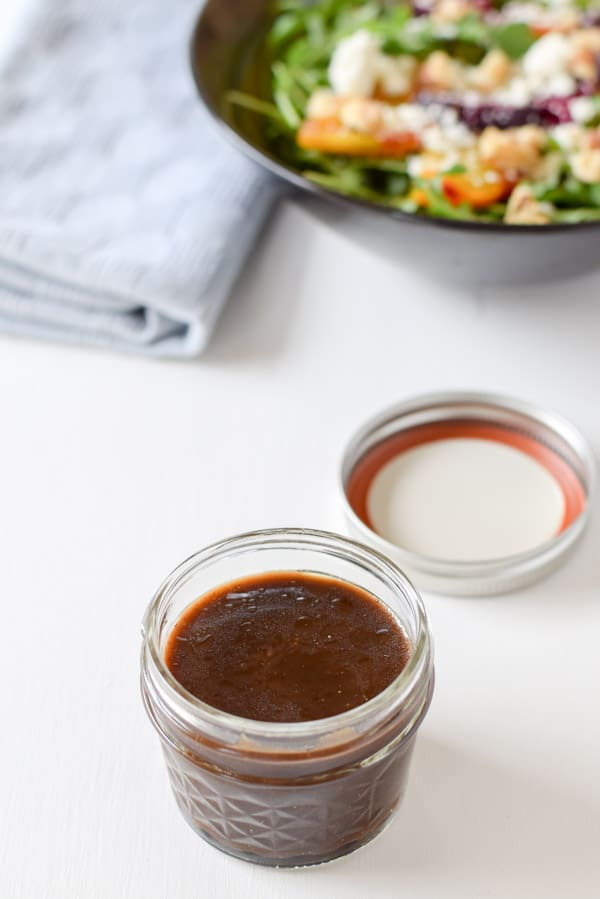 Easy delicious balsamic vinaigrette dressing all made and ready to be served