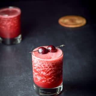 Frozen Cheerful Cherry Margarita ready to be imbibed
