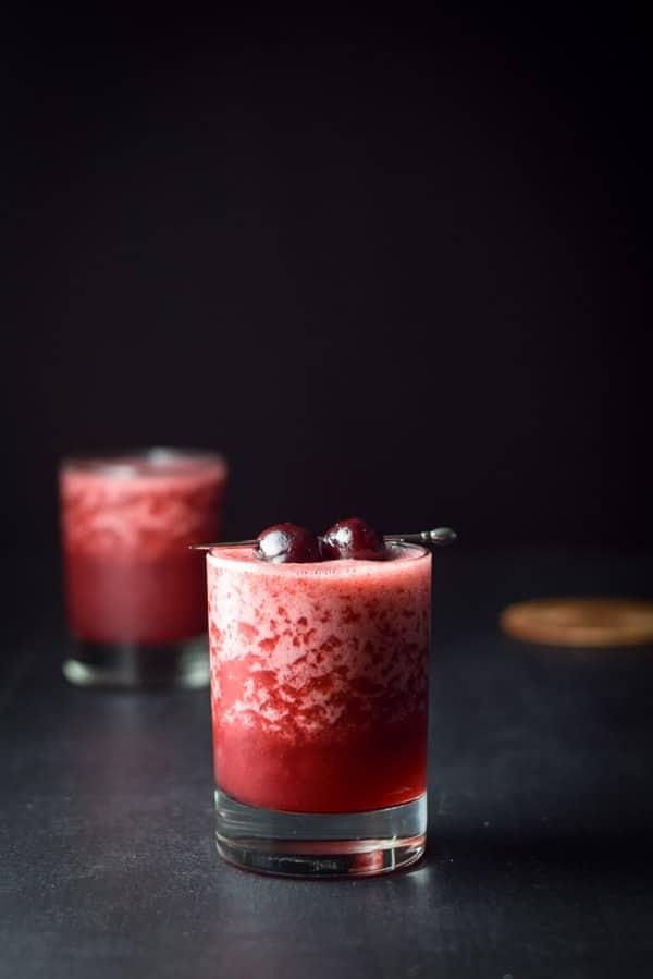 Vertical view for the frozen cheerful cherry margarita