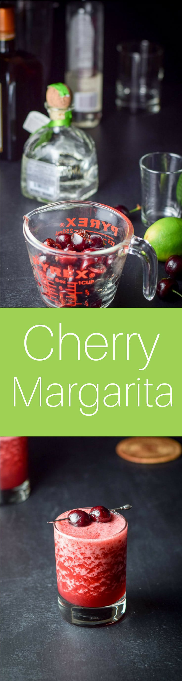 Frozen Cheerful Cherry Margarita is so delicious you're going to do cartwheels when you know you're going to have it!