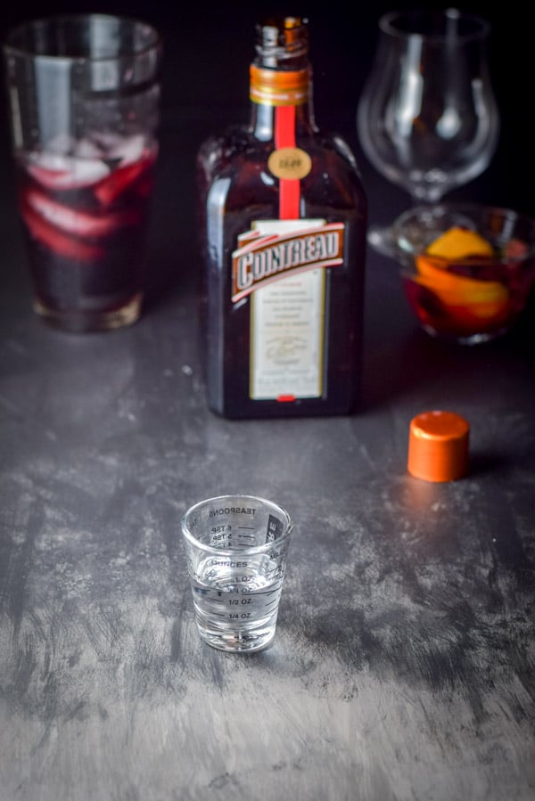 Cointreau measured out for the scintillatingly satisfying sangria