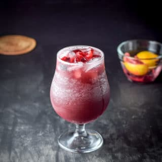 Scintillatingly satisfying sangria cocktail ready to be imbibed