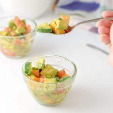 A forkful of refreshingly healthy avocado salad