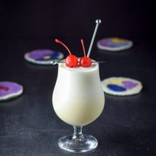 The tasty tropical pina colada cocktail ready to be imbibed
