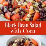 Black Bean Salad with Corn for Pinterest-