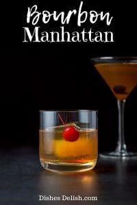Bourbon Manhattan Cocktail for Pinterest