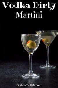 Vodka Dirty Martini for Pinterest