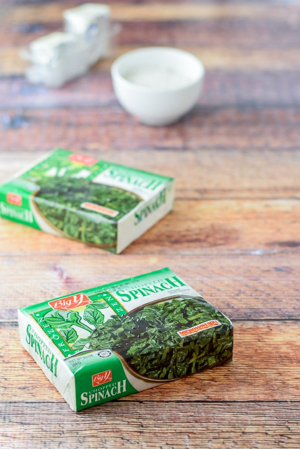 Frozen spinach for Bena's German style creamed spinich