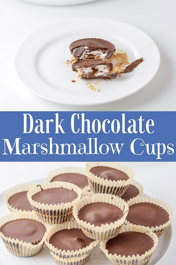 These dark chocolate marshmallow cups are loaded with cashew butter and caramel making these marshmallow cups the best candy to date! #marshmallow #darkchocolate #nutbuttercups #dishesdelish http://ddel.co/carmarcup