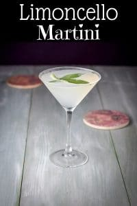 Limoncello Martini for Pinterest