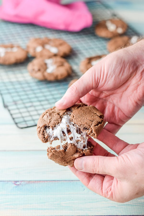 Pull that cookie apart for the chocolate marshmallow cookies