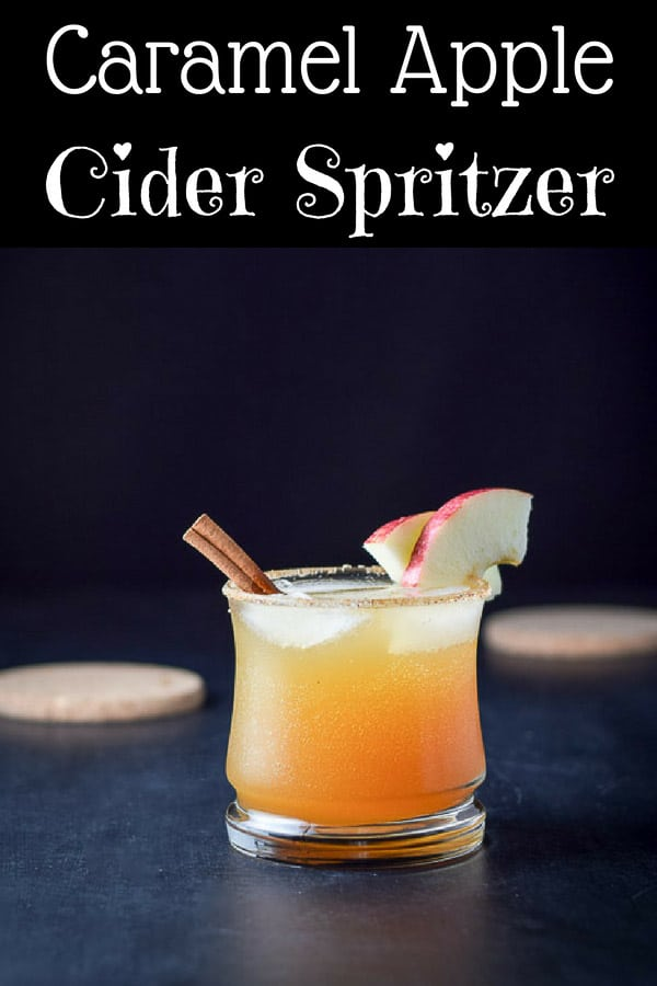 This caramel apple cider spritzer has only three ingredients - caramel vodka, apple cider and Prosecco!  It's the perfect cocktail to serve in the fall or at Thanksgiving!! #applecider #caramelapple #vodkaspritzer #dishesdelish  http://ddel.co/jaapcisp