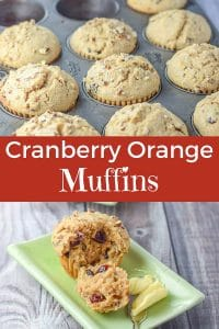 Cranberry Orange Muffins for Pinterest