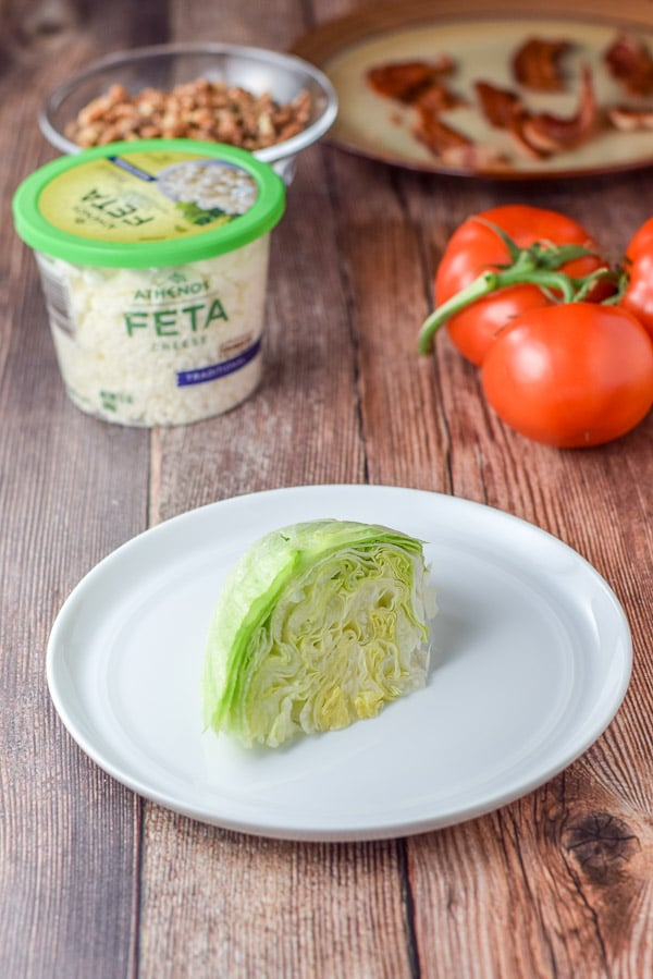 A wedge cut for the wedge salad recipe
