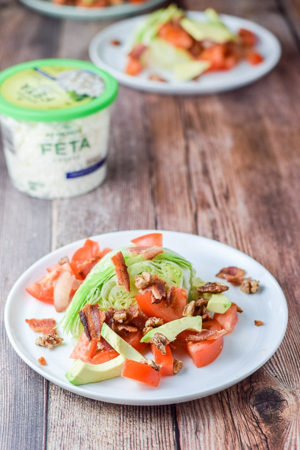 Pecans on the love me some wedge salad