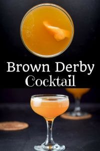 Brown Derby Cocktail for Pinterest