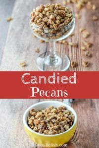 Candied Pecans for Pinterest