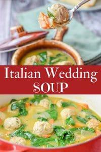 Italian Wedding Soup for Pinterest
