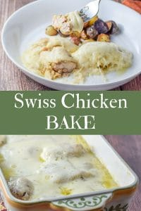 Swiss Chicken Bake for Pinterest