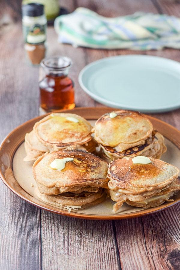 Piles of Bena's apple pancakes