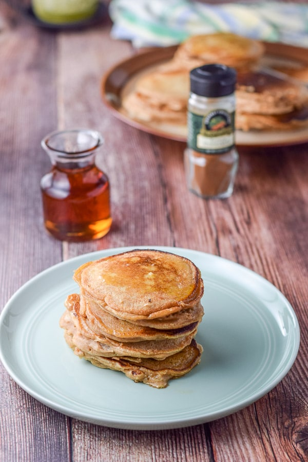 Stacked Bena's apple pancakes