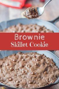 Brownie Skillet Cookie for Pinterest