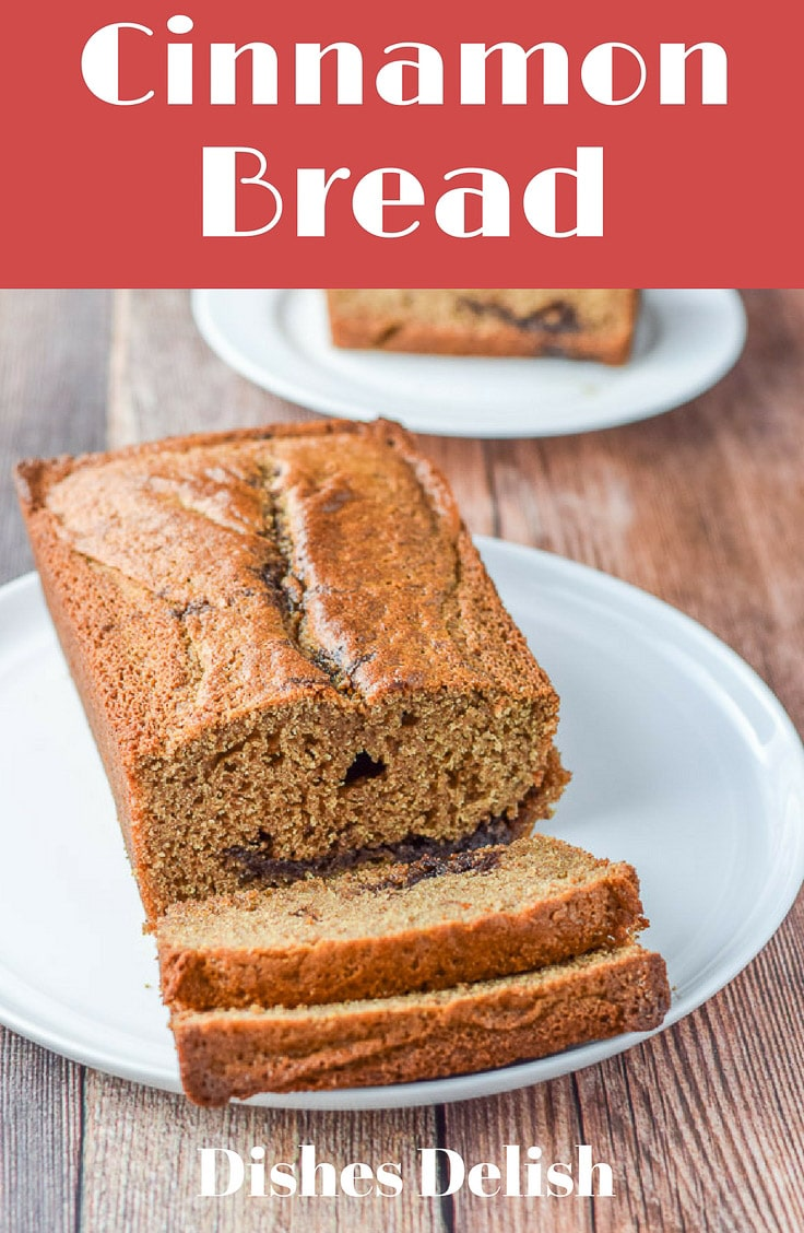 This Cinnamon bread is so delicious that you are going to want it for breakfast. Oh, and snack time. And dessert! #cinnamon #cinnamonbread #bread #breakfast #dishesdelishrecipes http://ddel.co/cinnbrd
