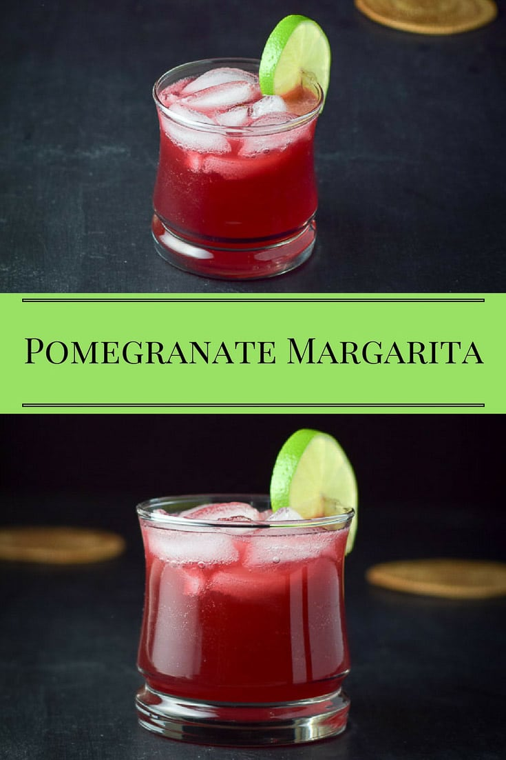 This Pomegranate Margarita is super yummy!  Just think, you're getting antioxidants while enjoying a cocktail.  It's a win-win! #pomegranate #pomegranatemargarita #margarita #cocktail #dishesdelishcocktails