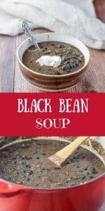 Black Bean Soup for Pinterest