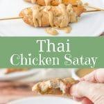 Thai Chicken Satay for Pinterest