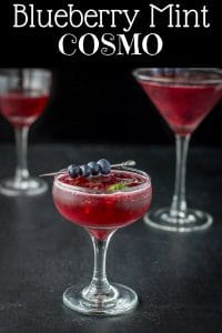 Blueberry Mint Cosmo for Pinterest