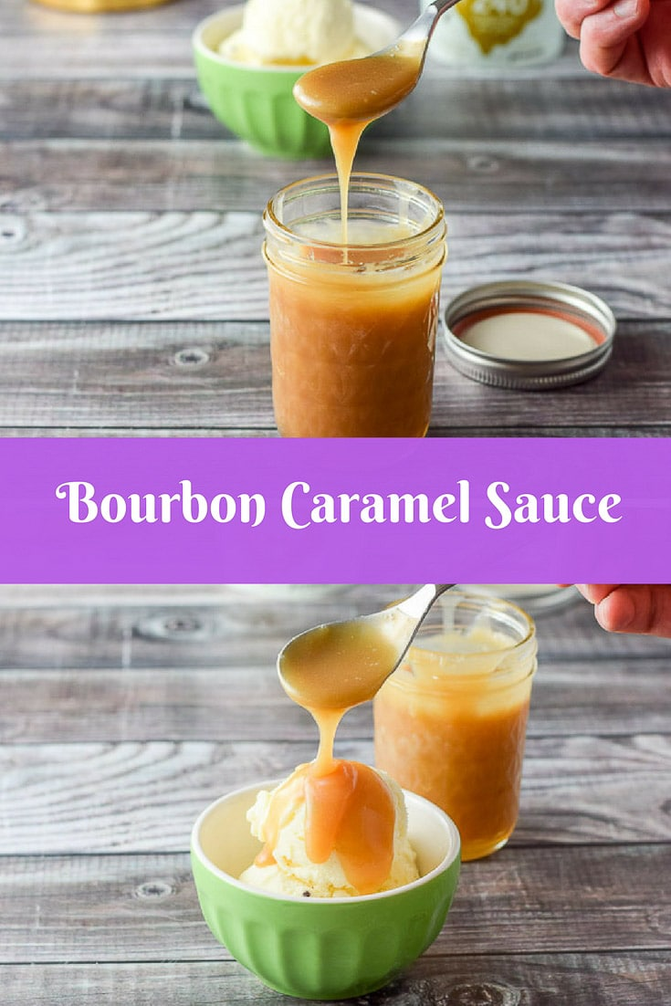 This Bourbon Caramel Sauce recipe is so delicious, you'll want to dollop it on ice cream or put a little in your coffee, or better yet, eat it by the spoonful! #bourbon #caramelsauce #bourboncaramelsauce #sauce #dishesdelish #dishesdelishrecipes http://ddel.co/bourcsa
