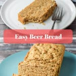 This easy beer bread is fun and satisfying. It's slightly sweet and has a fun flavor! I suggest you try it soon!