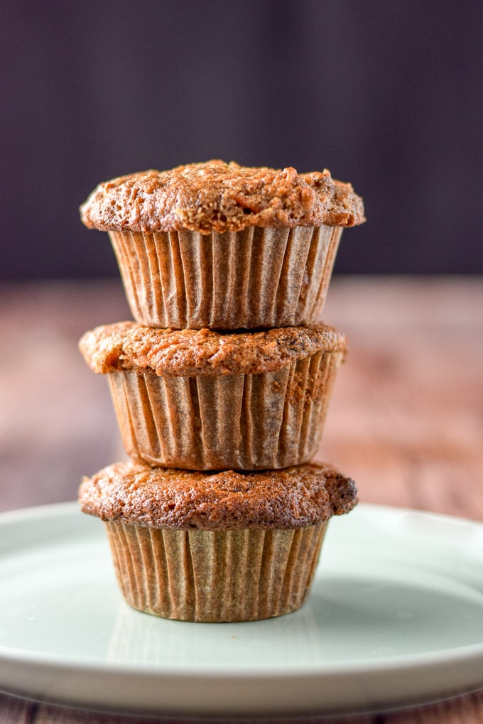 Stack of Lainey's morning glory muffins