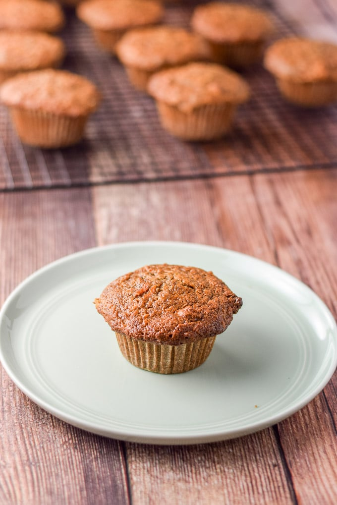 Plated Lainey's morning glory muffins