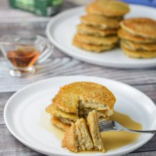 Nana's Potato Pancakes cut and ready to eat!