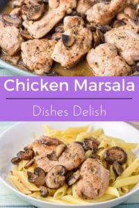 This super easy chicken marsala recipe is so delicious. It's saucy and the perfect main meal. If you put it on pasta, like I do, the pasta soaks up the juice. Mmmmm.